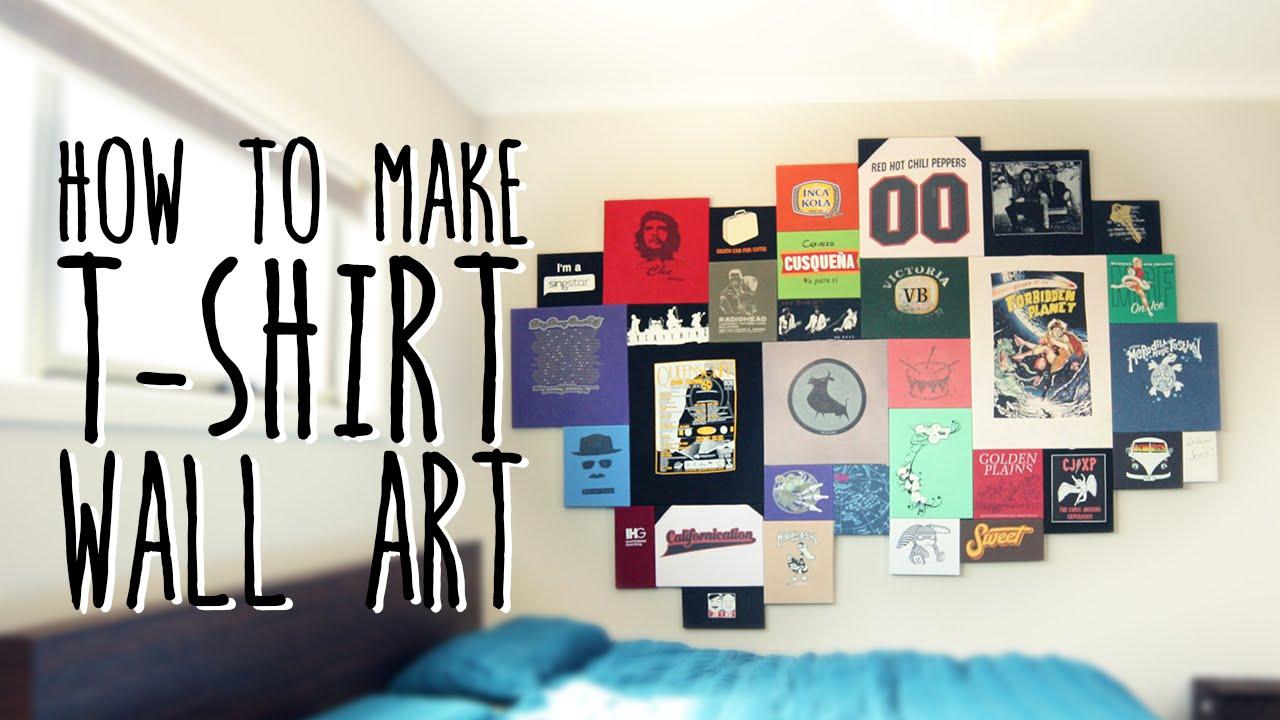How to make T-shirt wall art (super easy) - YouTube