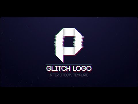 glitch logo after effects template youtube