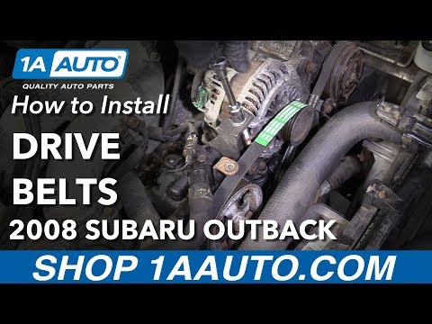 How to Replace Drive Belts 04-09 Subaru Outback