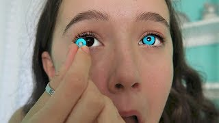 I Try 4 Creepy & Creative COLOR Contact Lenses ... See The Looks! FionaFrills thumbnail