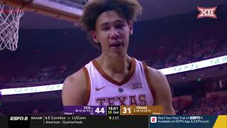 TCU vs Texas Men's Basketball Highlights