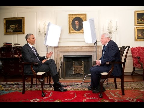 President Barack Obama meets Sir David Attenborough - BBC Ea