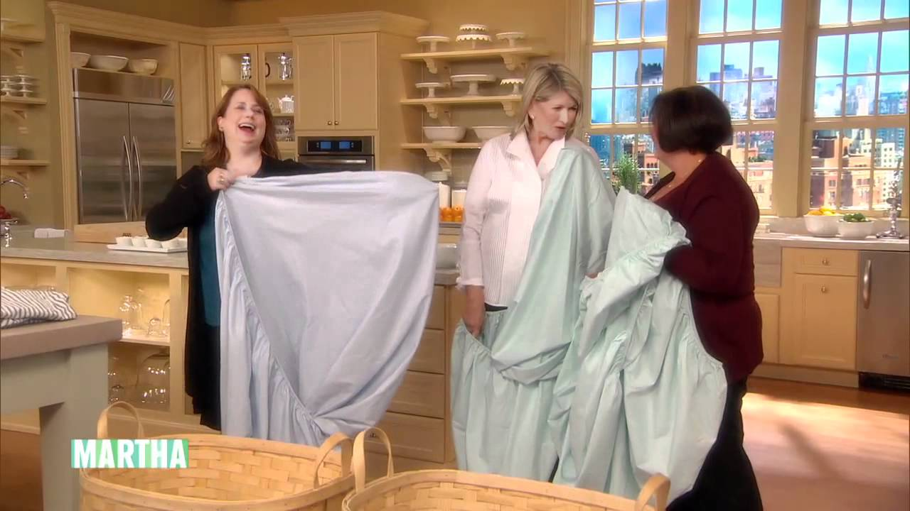 How To Fold A Fitted Sheet ⎢Martha Stewart   YouTube