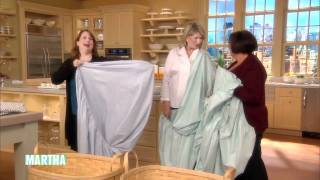 How to Fold a Fitted Sheet ⎢Martha Stewart