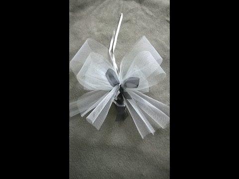 comment faire un noeud en ruban ou tissu tutoriel p doovi. Black Bedroom Furniture Sets. Home Design Ideas