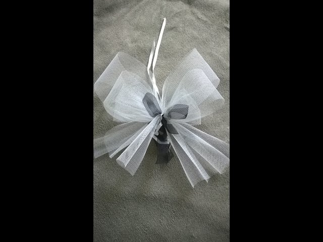 tuto noeud mariage youtube - Noeud Pour Voiture Mariage Tulle