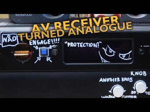 Broken AV Receiver to Analogue Amp Conversion