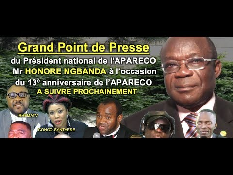 (LIVE!) Grand Point de Presse de Mr HONORE NGBANDA à l'occas
