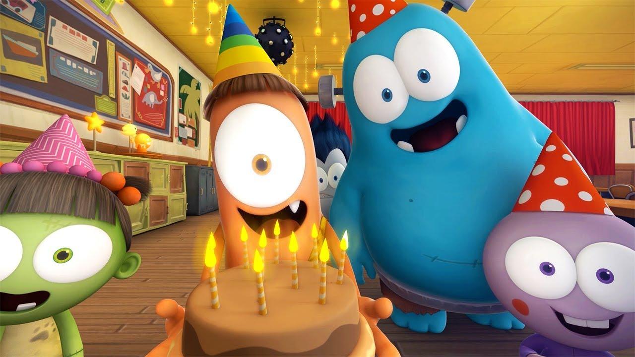Funny Animated Cartoon Spookiz Happy Birthday ̊¤í'¸í'¤ì¦ˆ Kids Cartoon Videos For Kids Youtube