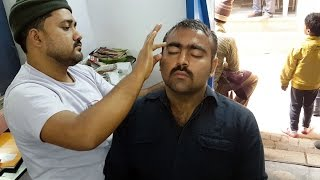 Best Head massage & Face massage with Neck CRACKING - Varanasi