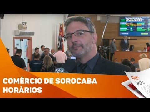 Comércio de Sorocaba podem ficar abertos até às 22h - TV SOROCABA/SBT