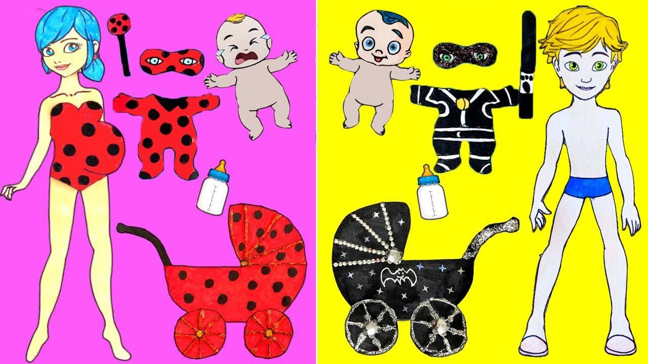 Miraculous Ladybug - Pregnant ladybug Baby Costumes Cfafts Transformations - DIY