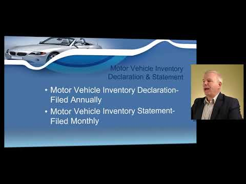 Texas Dealers Motor Vehicle Sales Tax, Inventory Declaration, VIT, Appraisals