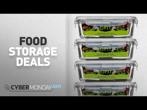 Top Cyber Monday Food Storage Deals: Glass Meal Prep Containers with Vented Lids (4 Pack) - Food