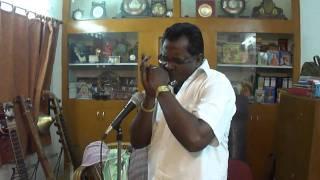 Tamil J.P.Chandrababu song,Bambara Kannale, in Harmonica By Nanganallur P.V.S.Jagath eesan