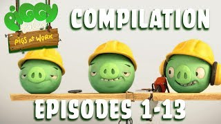 Angry Birds | Piggy Tales | Pigs at Work - Compilation Ep1-13