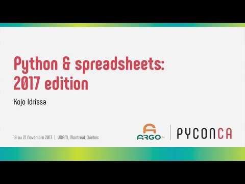 Image from Python & spreadsheets: 2017 edition