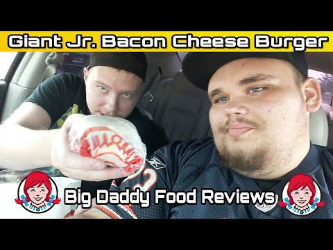 Wendy's NEW Giant Jr. Bacon Cheese Burger Review