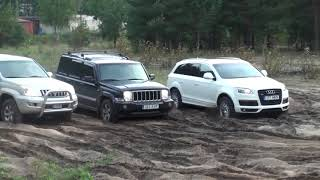 #4x4 Audi Q7, Jeep Commander, Toyota Land Cruiser Prado تحدي مابين