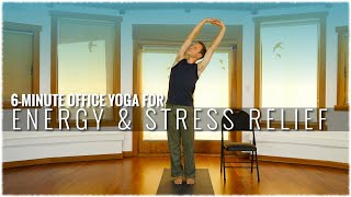 Office Yoga w/ David Procyshyn: 6-Minute Energy and Stress Relief