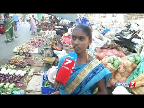 Market with no basic facilities or vegetable waste dumping a