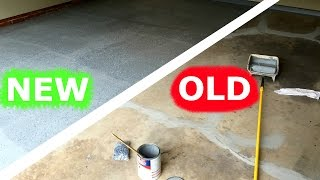 HOW TO PAINT YOUR GARAGE FLOOR AMAZING RESTORATION!