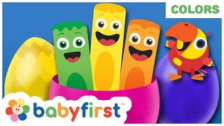 Toddler Learning Video Words w Color Crew & Larry | Learn Colors and Sea Animals | Baby First TV