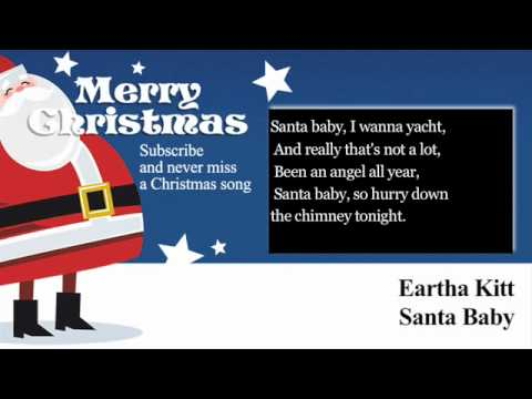 Eartha Kitt - Santa Baby - Lyrics (Paroles)