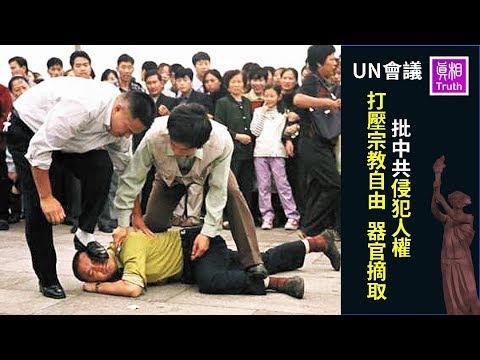 UN会议:西方多国批中共侵犯人权 打压宗教自由 器官摘取