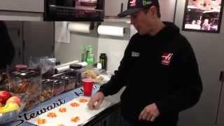 Kurt Busch candy corn challenge (NASCAR)
