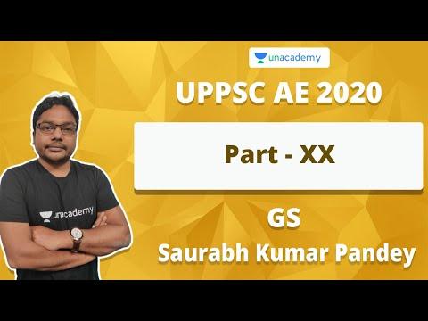 UPPSC AE 2020 GS Preparation Part - XX  | Saurabh Kumar Pandey
