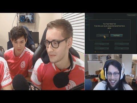 Tobias Fate Rage Quit | Imaqtpie Pentakill | Imls Fail Flash | Bjergsen | LoL Moments