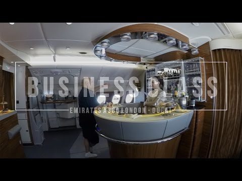 Emirates Business Class Experience A380 London to Dubai