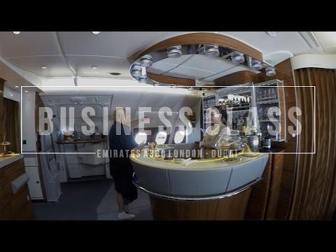 Emirates Business Class Experience A380 London to Dubai