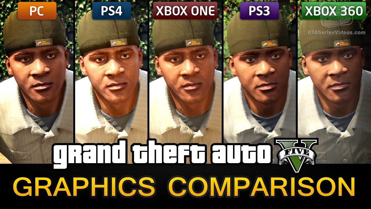 Gta 5 Graphics Comparison Pc Ps4 Xbox One Ps3