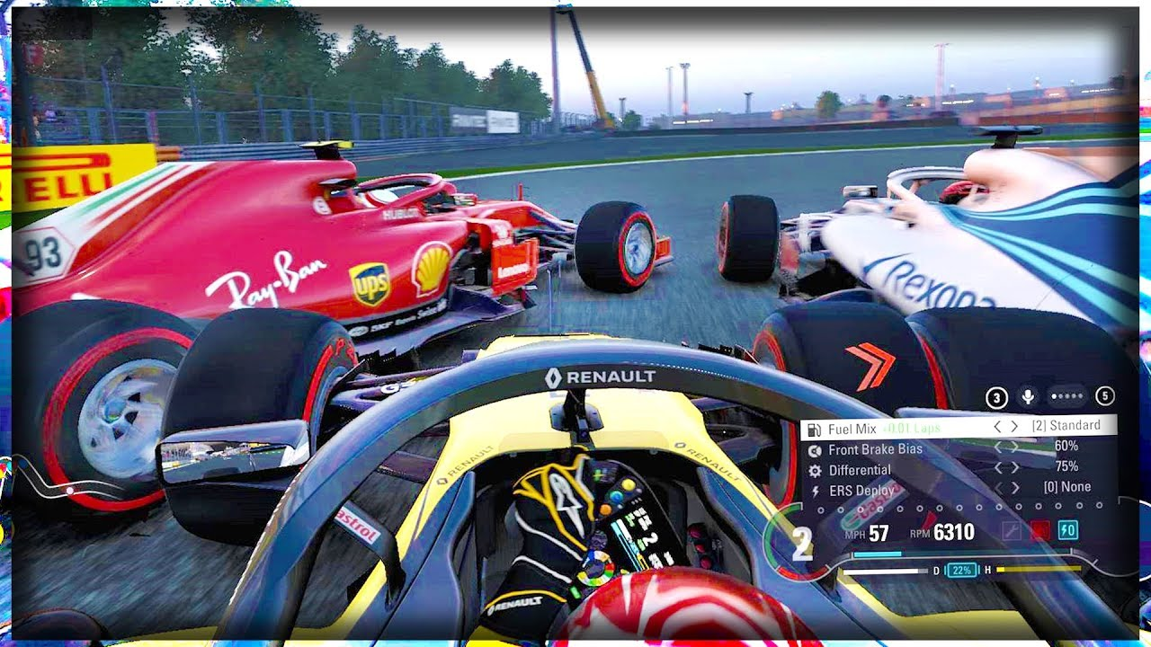 MEGA PILE UP AT SINGAPORE! 8 OVERTAKES IN OPENING LAP! - aarava