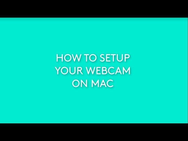 How To Setup Your Logitech Webcam On Mac Youtube