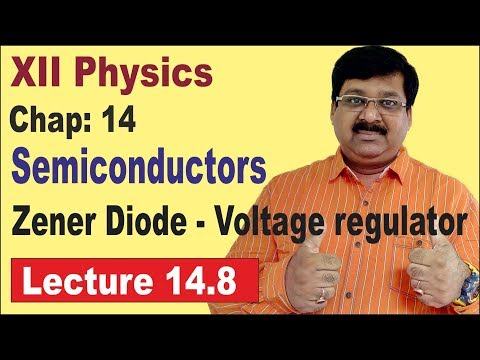 NCERT XII Physics Chap-14.8 | Zener Diode | Voltage Regulator | Semiconductor Electronics |