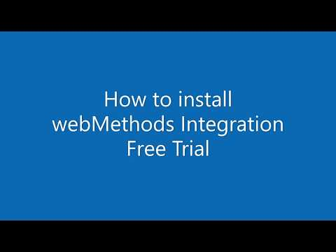 How to install webMethods Integration Free Trial