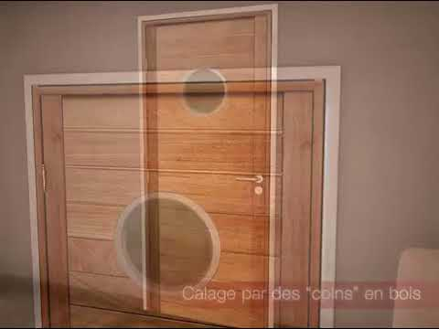 remplacer sa porte d 39 int rieur sans travaux la pose youtube. Black Bedroom Furniture Sets. Home Design Ideas