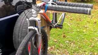 Home Made Spare Tire Bike Rack