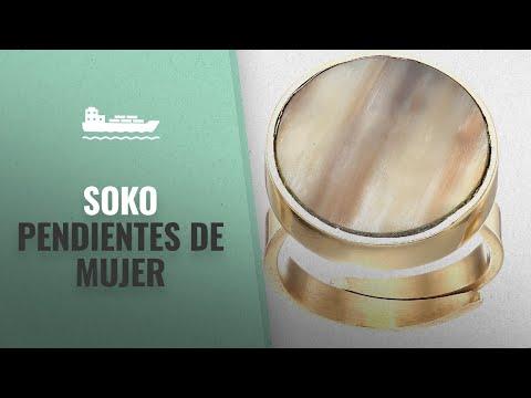 Pendientes De Mujer 2018, Los 10 Mejores Soko Productos: SOKO Disc Ring, White (Gold-tone)