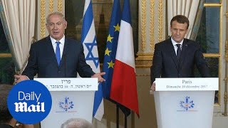 Macron asks Netanyahu to make gesture to break peace impasse - Daily Mail