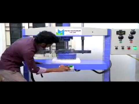 Double die semi automatic Paper plate making machine & Double die semi automatic Paper plate making machine - YouTube
