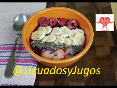 A smoothie bowl great for your heart and circulation /Great for breakfest