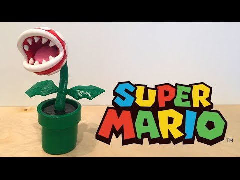 Making a PIRANHA PLANT with CLAY | Super Mario | Custom Polymer Clay Sculpture