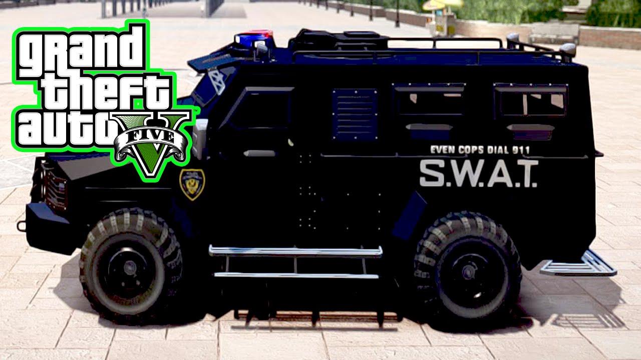 GTA 5 We stole an Armored Truck SWAT Van ! - YouTube