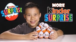 10 KINDER SUPRISE EGGS! Time to Open More Kinder Surprises!