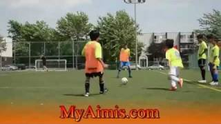 drill 1v1 and 2v1 and 2v2 in soccer training exercises in football