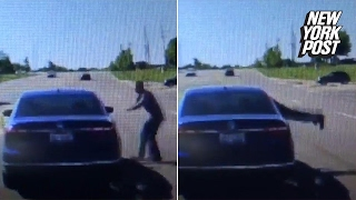 hero dives through car window after driver has a seizure   new york post